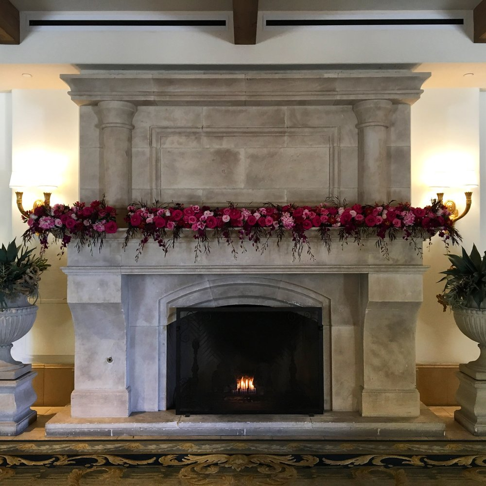 Fresh Flowers and Warm Fires abound the Resort