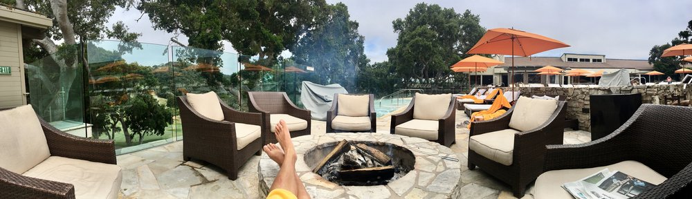 Panoramic View of the Adults Only Pool and Hot Tub