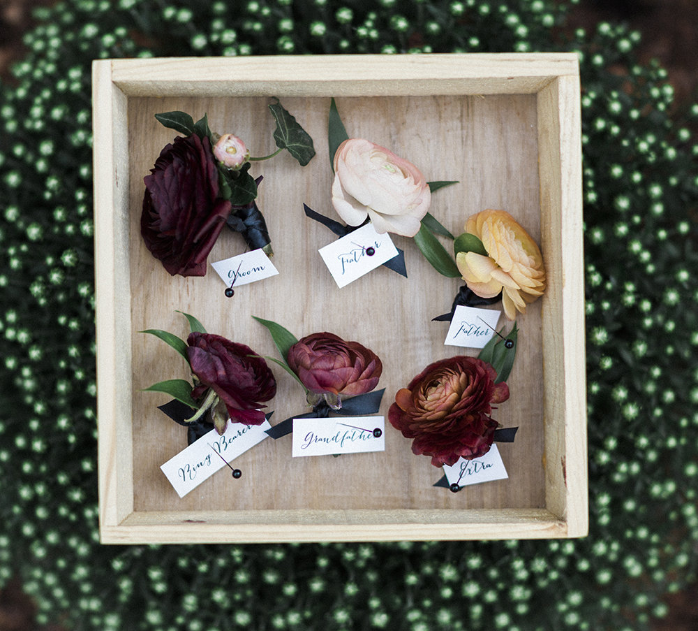 Ranunculus make perfectly stylish boutonnieres