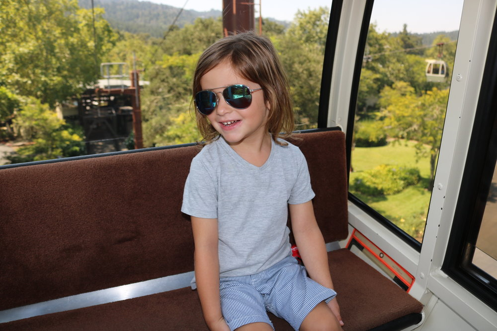 Feeling cool in the aerial tram!