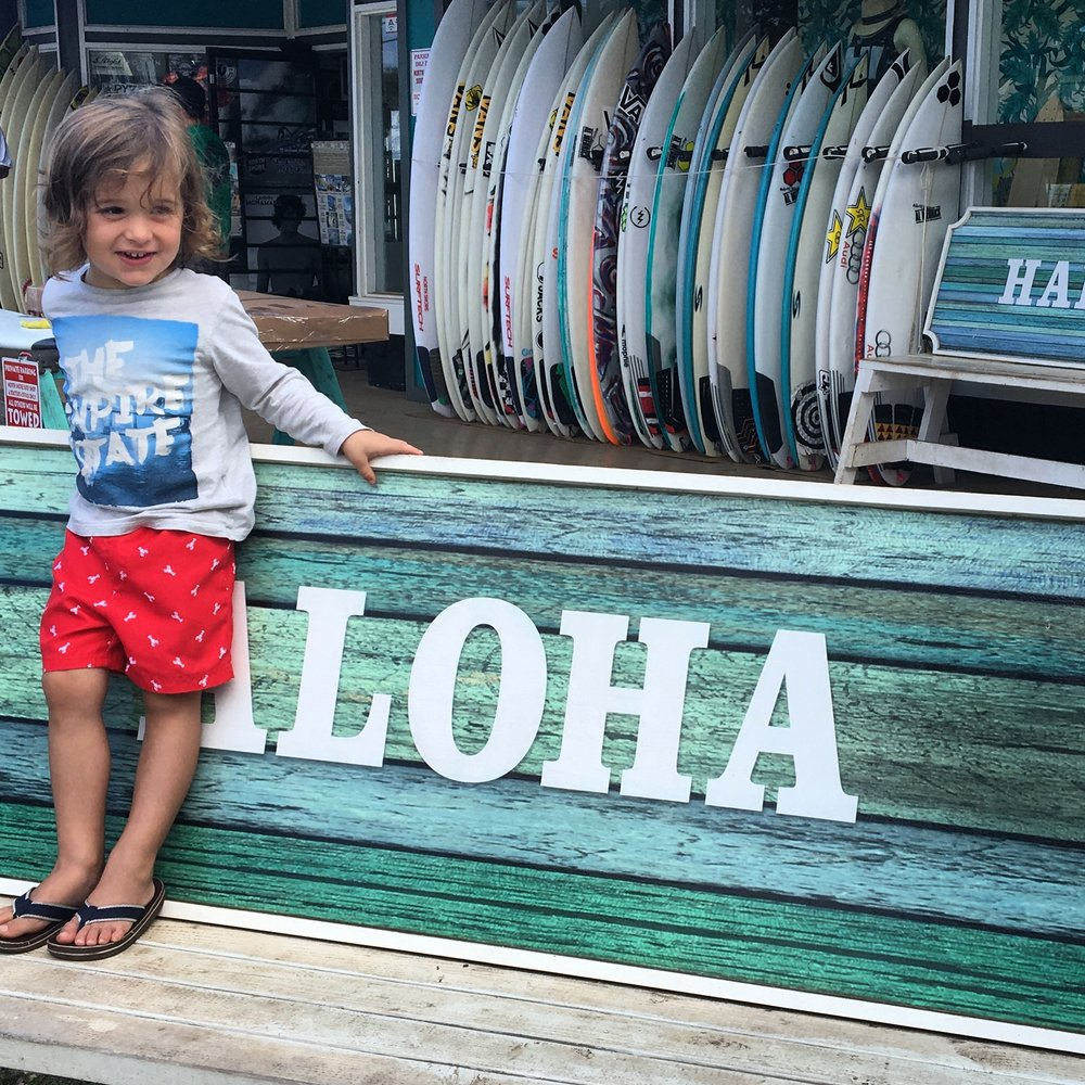 Found some great surfboards in Haleiwa!
