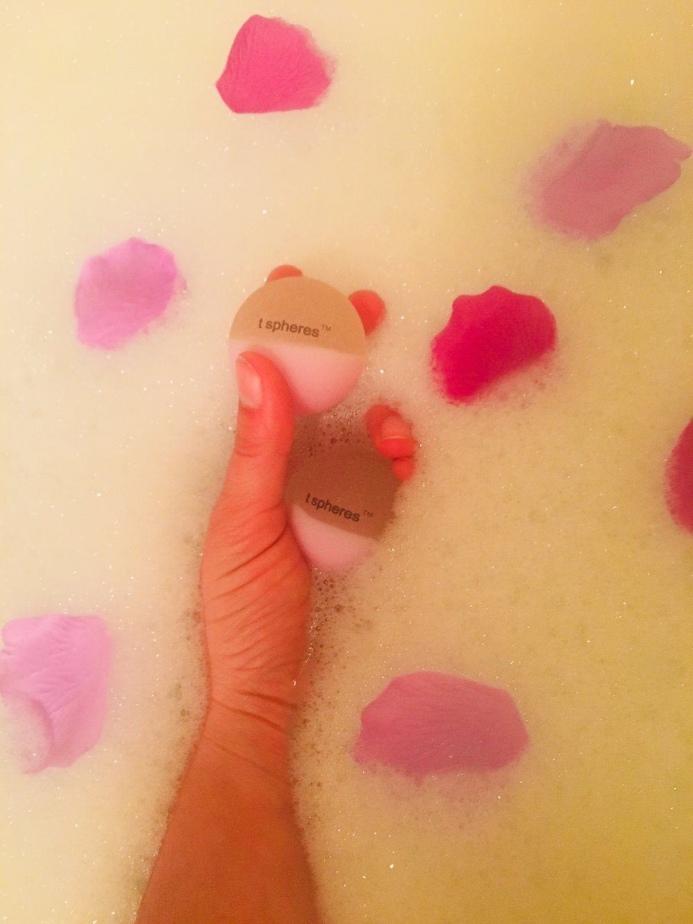 Indulge and re-set in a lavender bubble bath!
