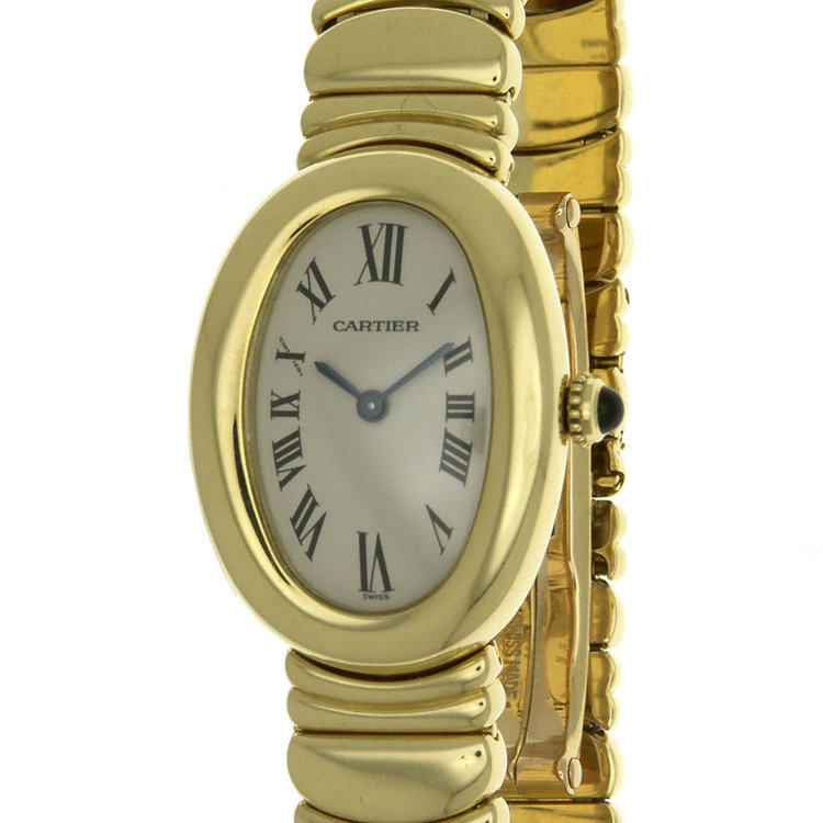 Cartier Baignoire 1954 18k Solid Yellow Gold Ladies Watch Authentic