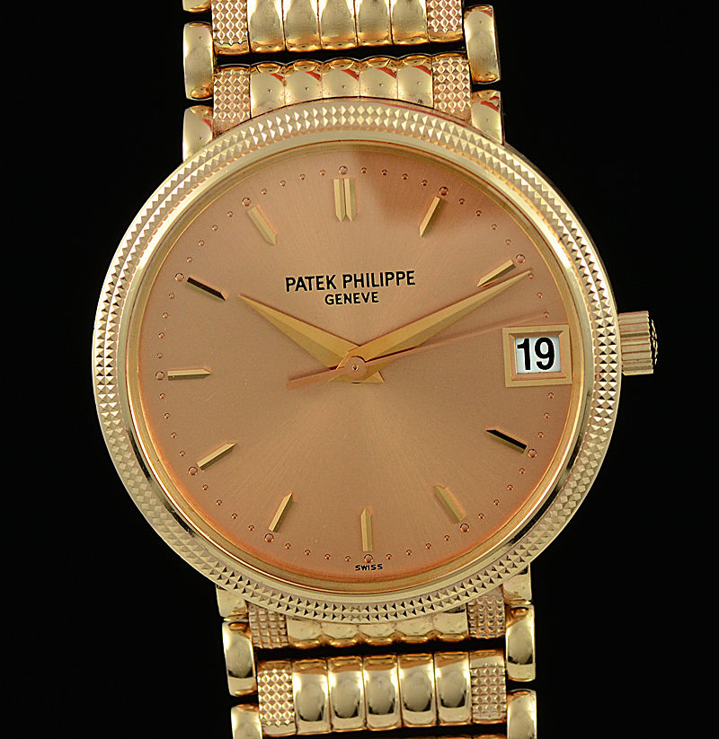3b0aa59f87e Patek Philippe Calatrava Rose Gold Automatic 3802 208 R Mens Watch With  Bracelet