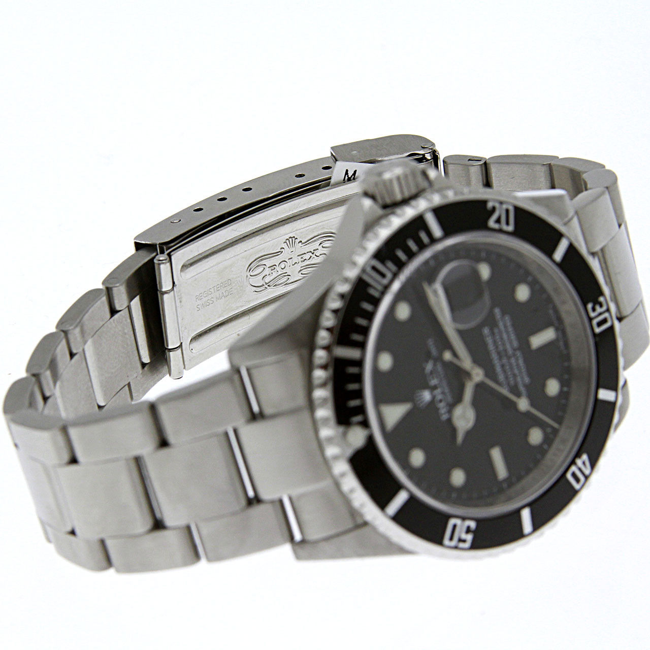 2fb95dc9ed2 Rolex Submariner Date Black Dial Bezel Oyster Stainless Steel M-Serial 16610
