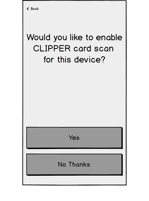 Digital Card Users did not understand that this was asking whether they wanted to be able to use their phone to tag in and out at Clipper stations.