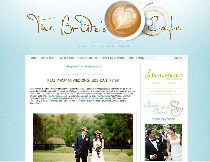 The Bride's Cafe feature