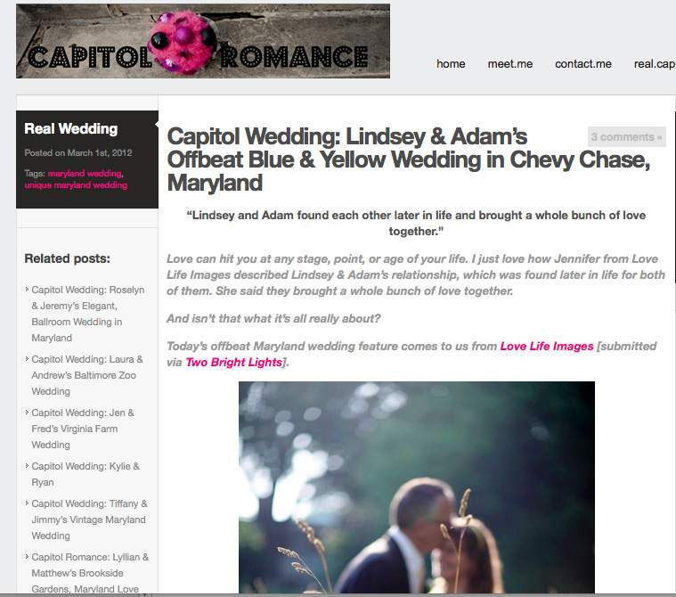 Capitol Romance blog feature