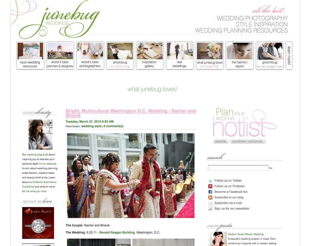 Junebug blog feature