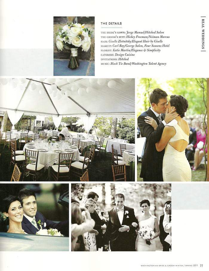 Washingtonian Bride & Groom feature