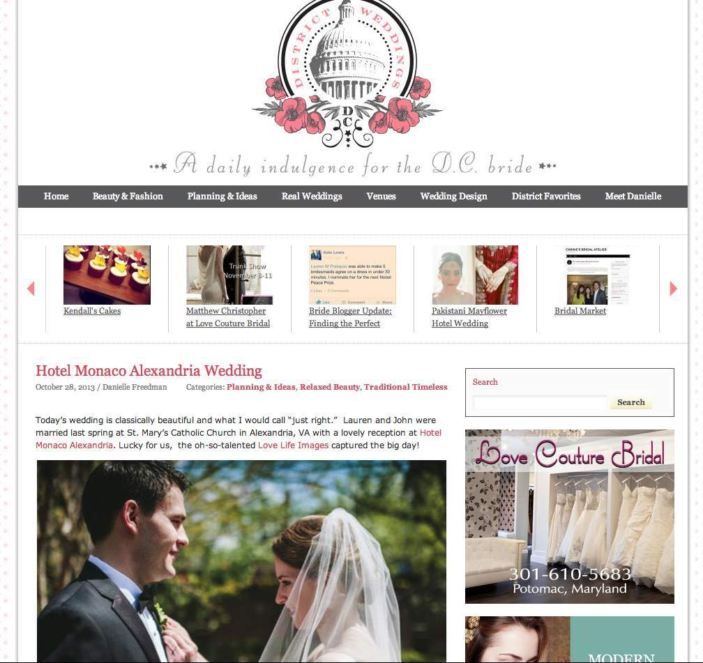 District Weddings feature