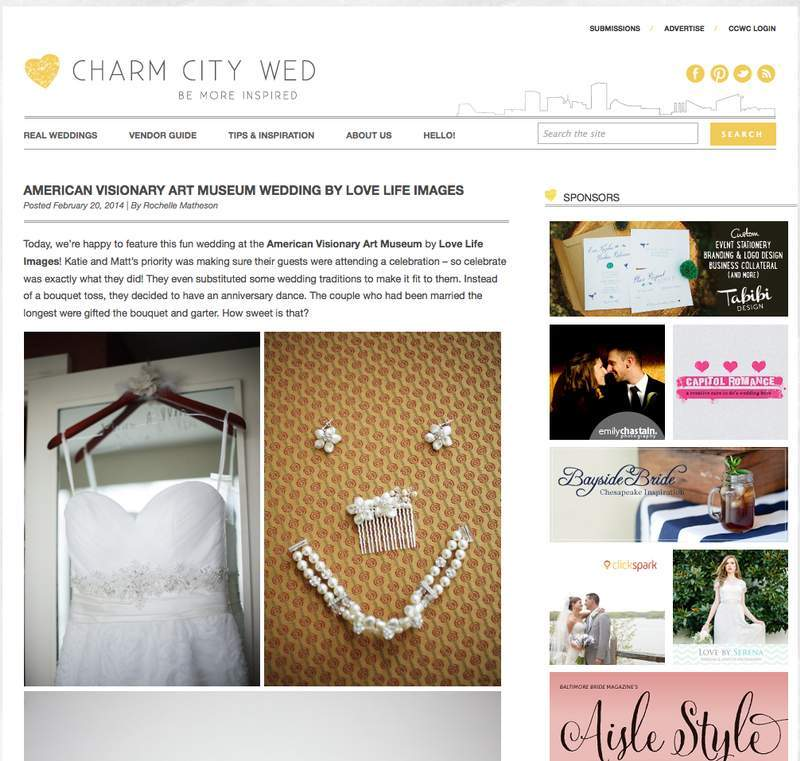 Love Life Images Charm City Wed feature