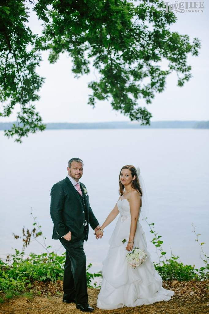 River Farm wedding portrait