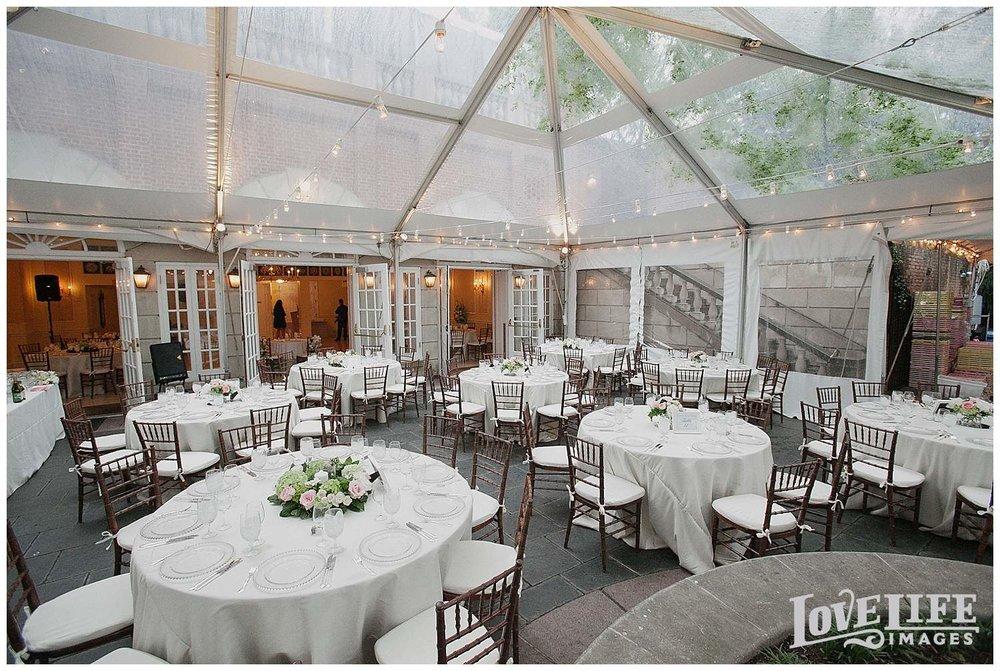 Dumbarton House wedding reception