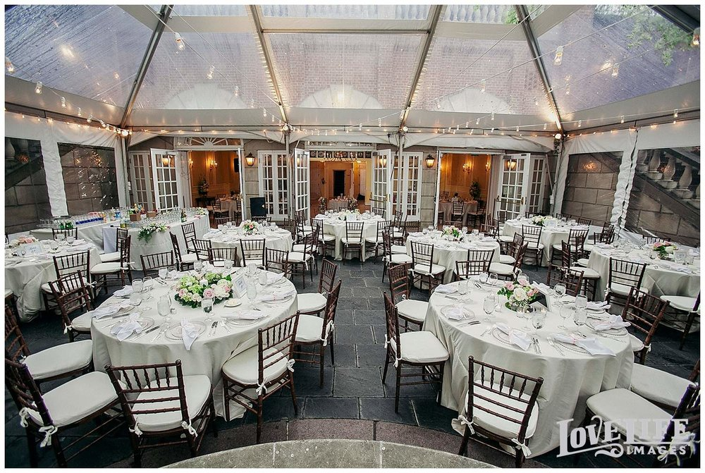 Dumbarton House wedding reception