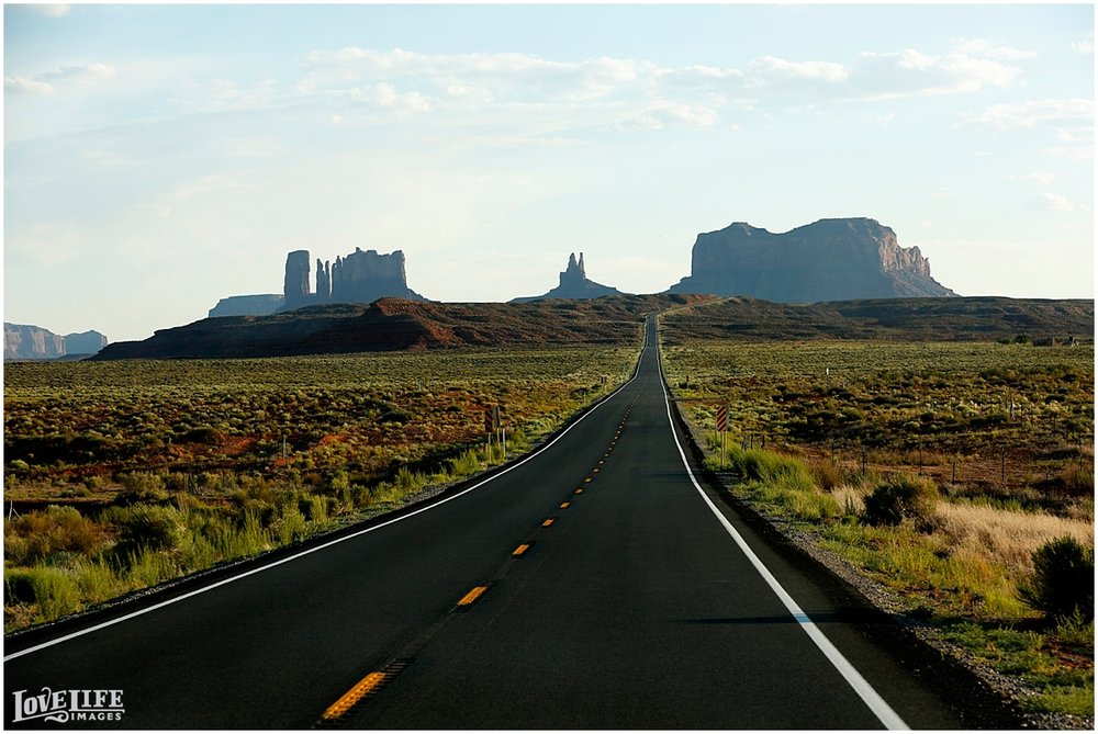 A drive through Monument Valley.