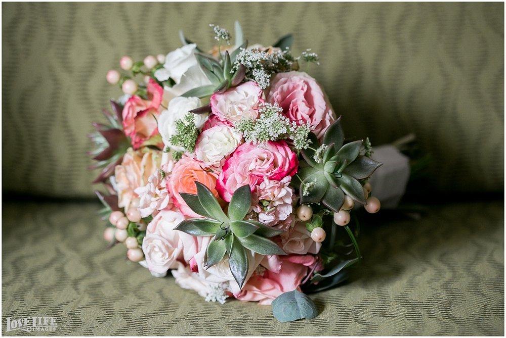 Clarendon Ballroom Wedding pink bouquet.jpg