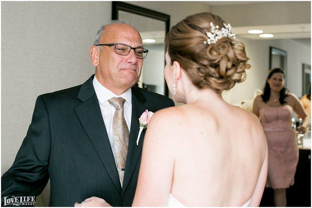 Clarendon Ballroom Wedding bride first look with dad.jpg