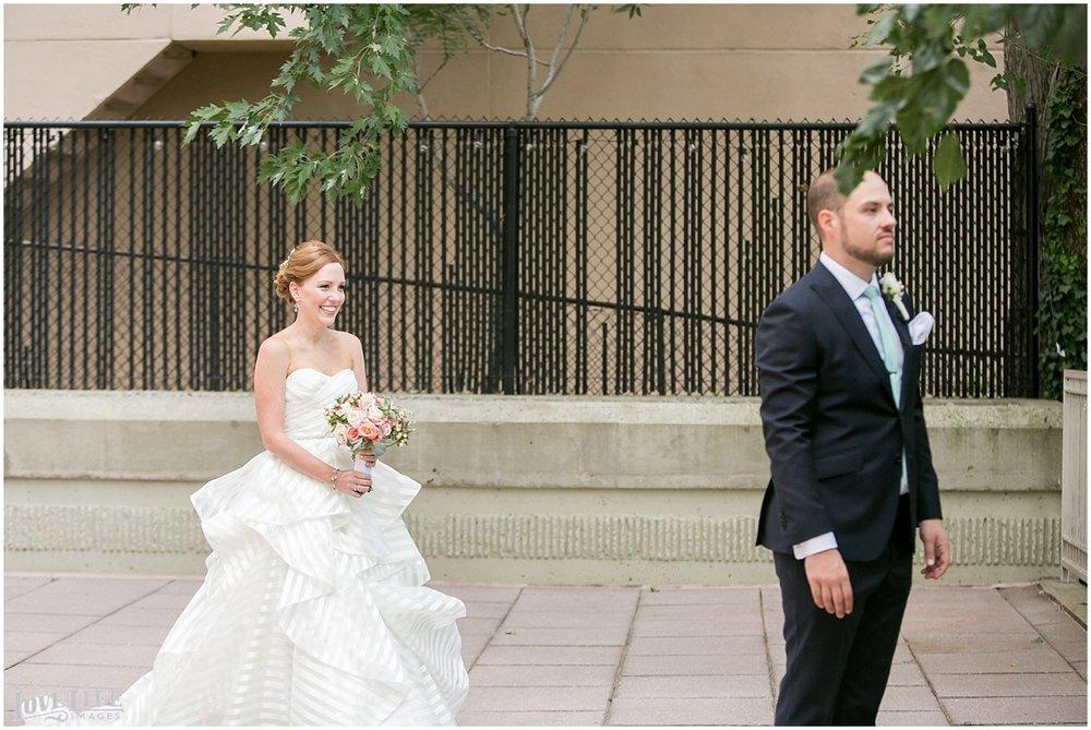 Clarendon Ballroom Wedding first look approach.jpg