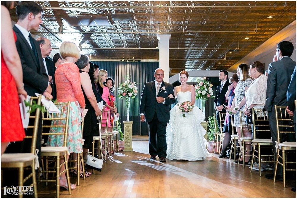 Clarendon Ballroom Wedding bride processional.jpg