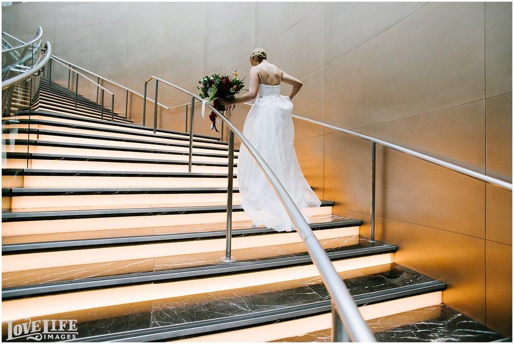 Longview Gallery DC Wedding bridal portrait on stairs.jpg