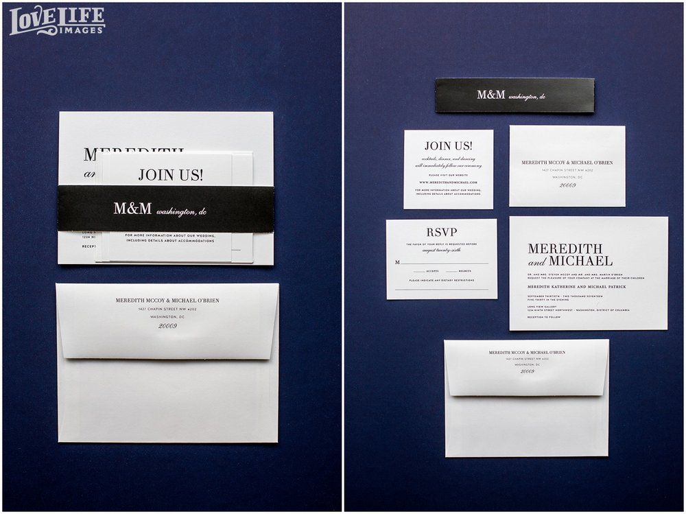 Longview Gallery DC Wedding black and white invitation suite.jpg