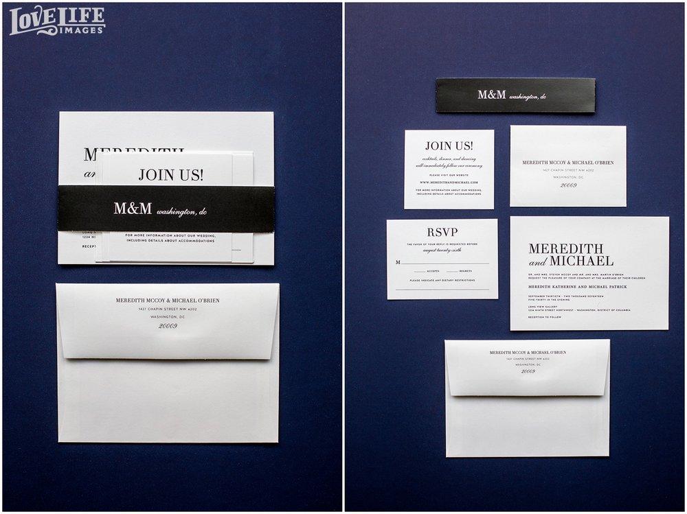 Longview Gallery DC Wedding black and white invitation suite.jpg