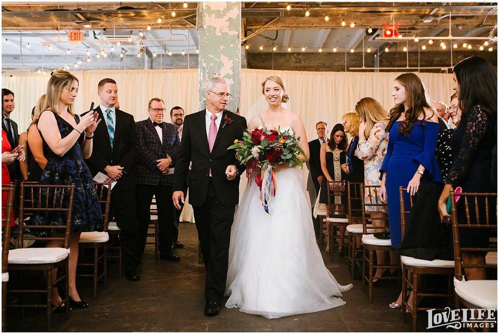 Longview Gallery DC Wedding bride and dad processional.jpg
