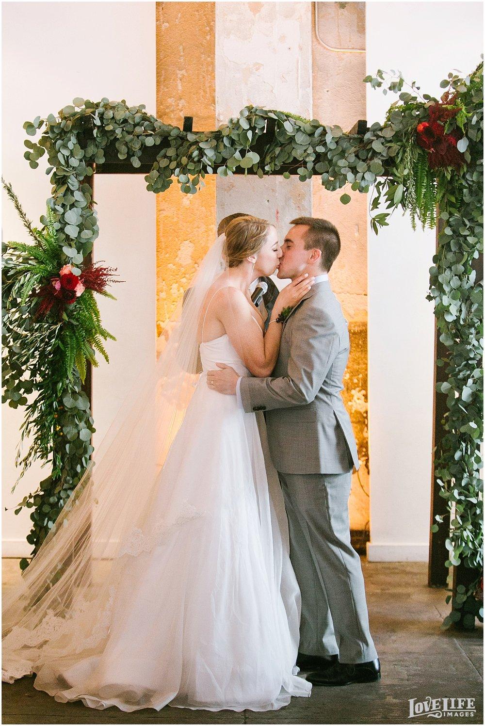 Longview Gallery DC Wedding ceremony kiss.jpg