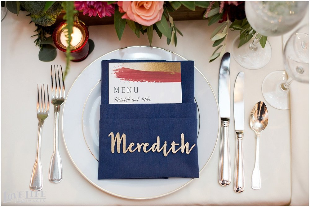 Longview Gallery DC Wedding blue and gold place setting.jpg