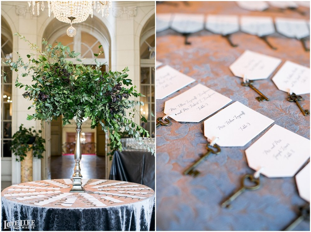 Meridian House Wedding escort card display.jpg