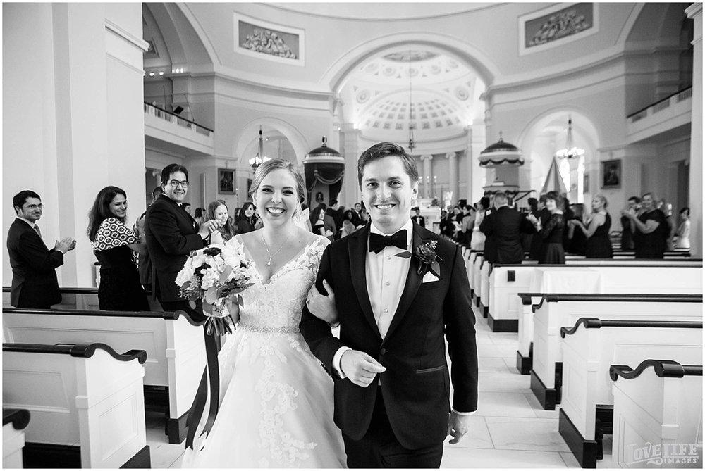 Engineer's Club Wedding bride and groom recessional.jpg