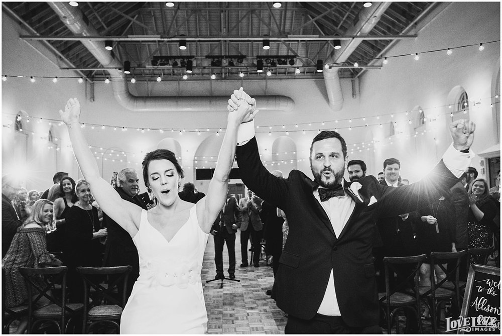 Eastern Market DC Wedding bride and groom processional.jpg