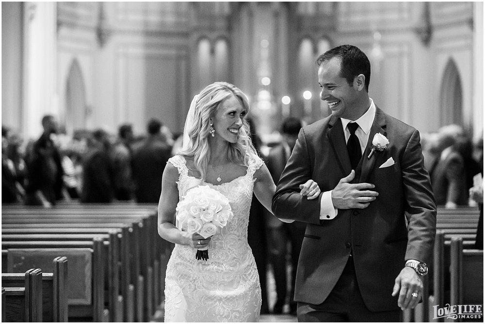 Mayflower Hotel DC Wedding bride and groom recessional.jpg