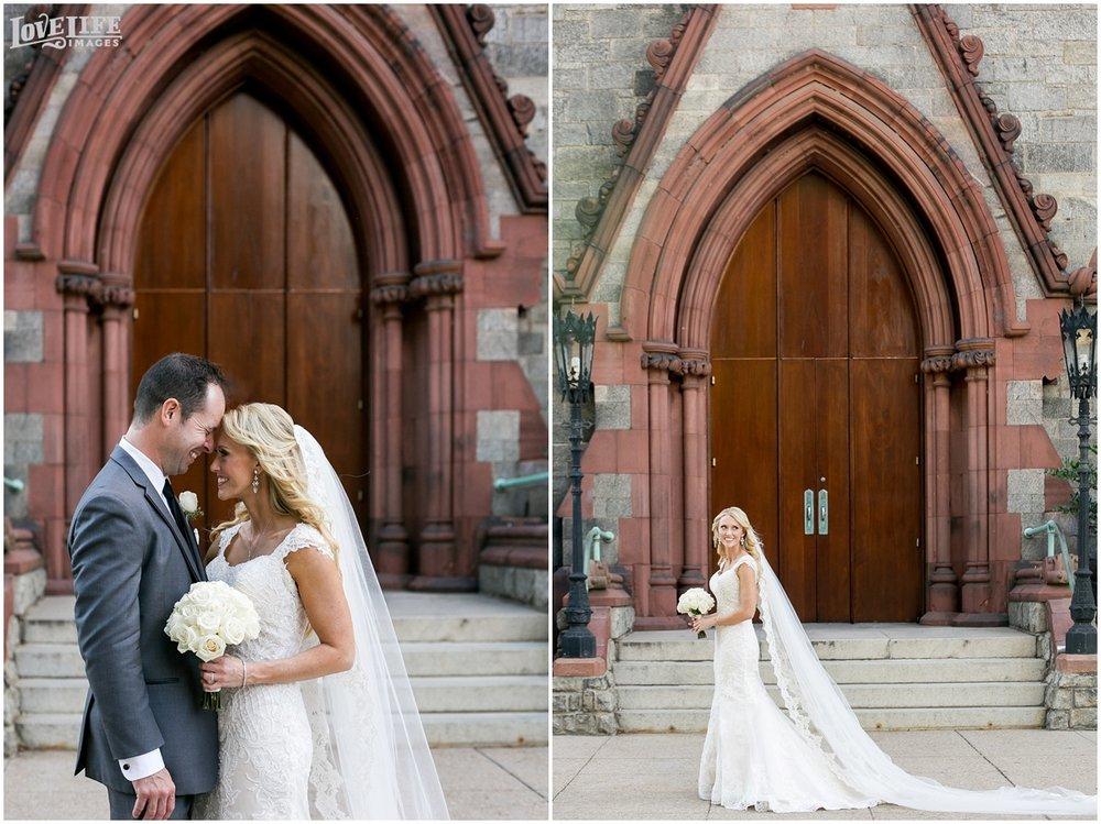 Mayflower Hotel DC Wedding bride and groom church portrait.jpg