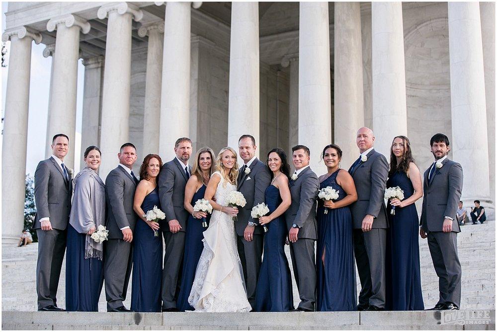 Mayflower Hotel DC Wedding navy bridal party monument portrait.jpg