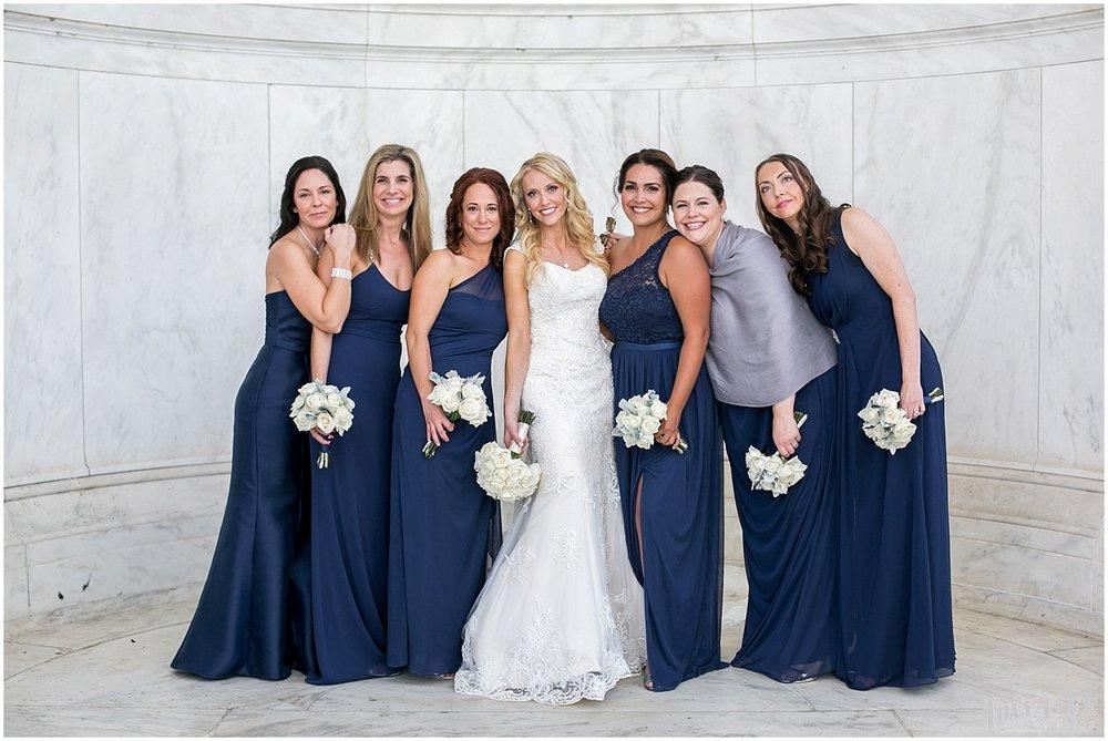 Mayflower Hotel DC Wedding navy bridesmaids portrait.jpg