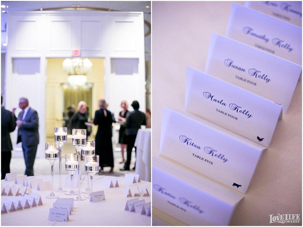 Mayflower Hotel DC Wedding escort card display.jpg