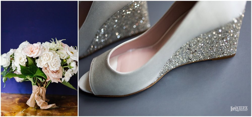 Meridian House Wedding flowers and wedding shoes.JPG