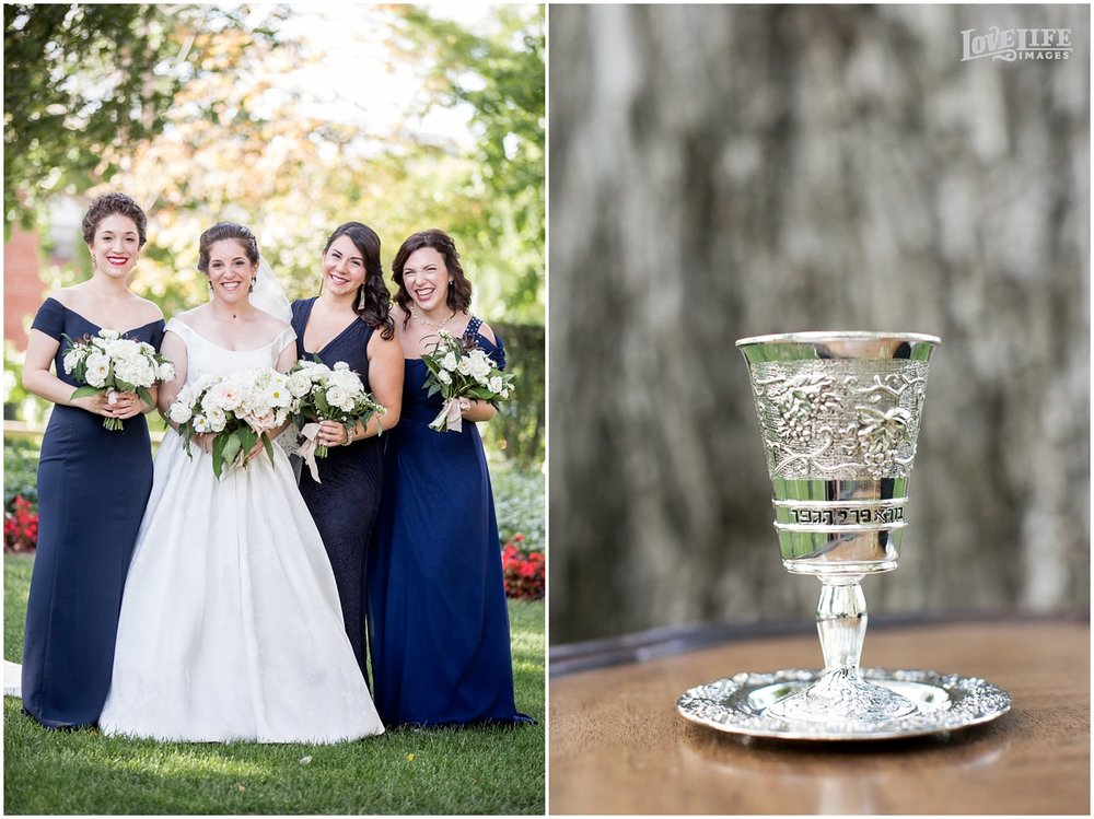 Meridian House Wedding Photo of bridesmaids and jewish wine cup.JPG