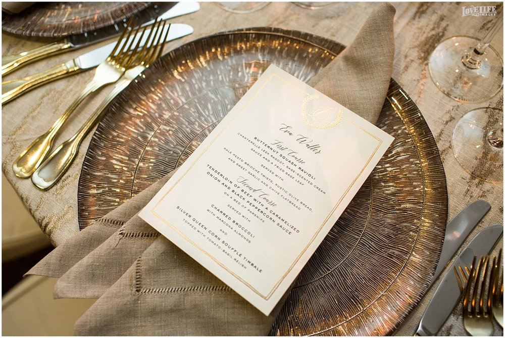 Meridian House Wedding menu and charger.JPG