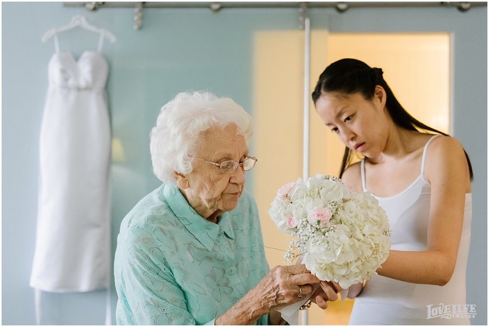Lorien Hotel Brunch wedding bride with grandma.JPG