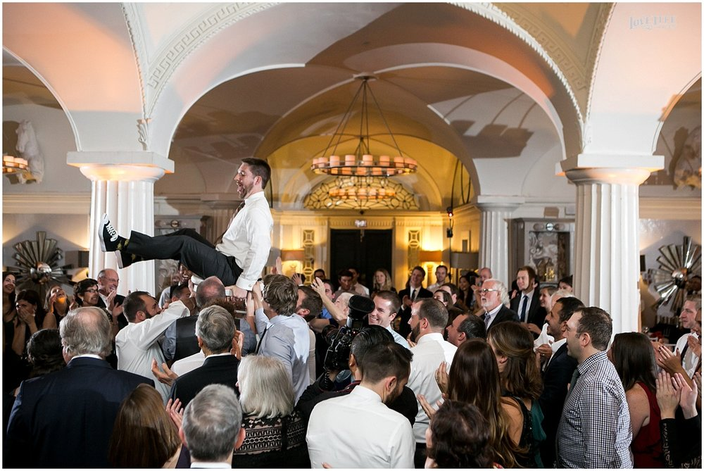 DC Hotel Monaco fall wedding reception hora.JPG
