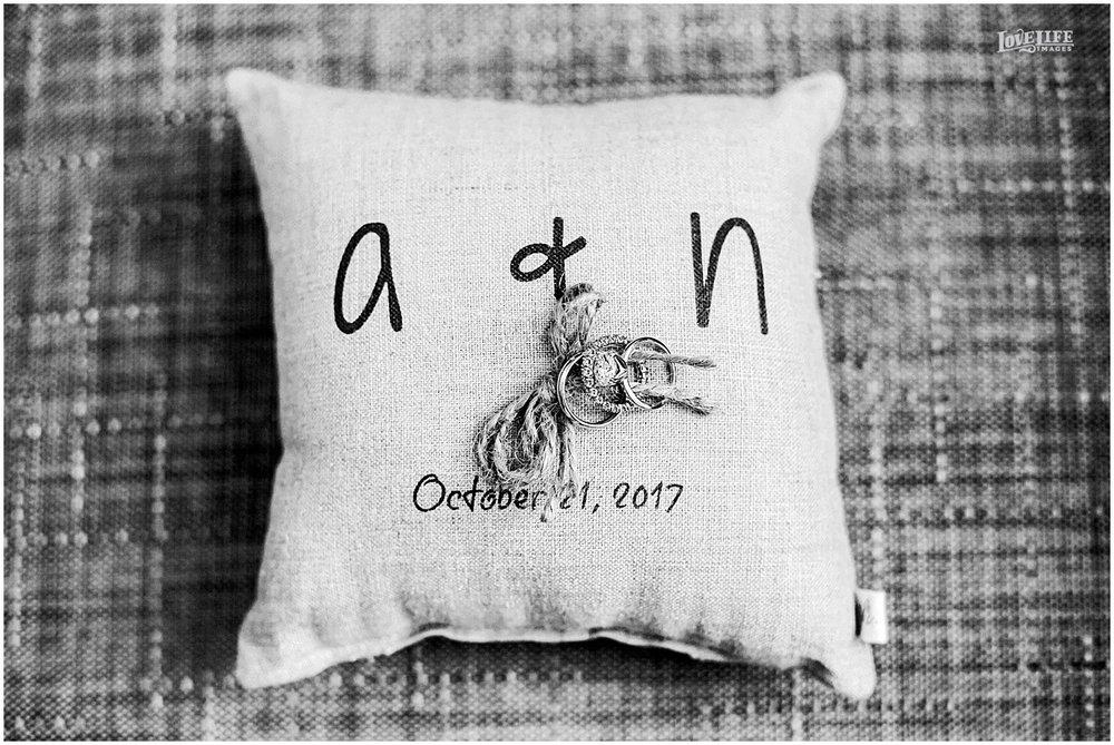 National Aquarium Baltimore Wedding personalized ring pillow.JPG