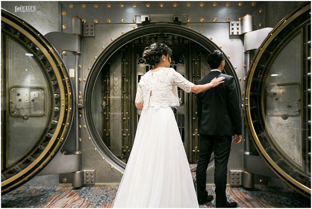 National Aquarium Baltimore Wedding bank vault first look.JPG