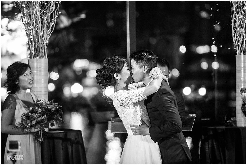 National Aquarium Baltimore Wedding first kiss.JPG