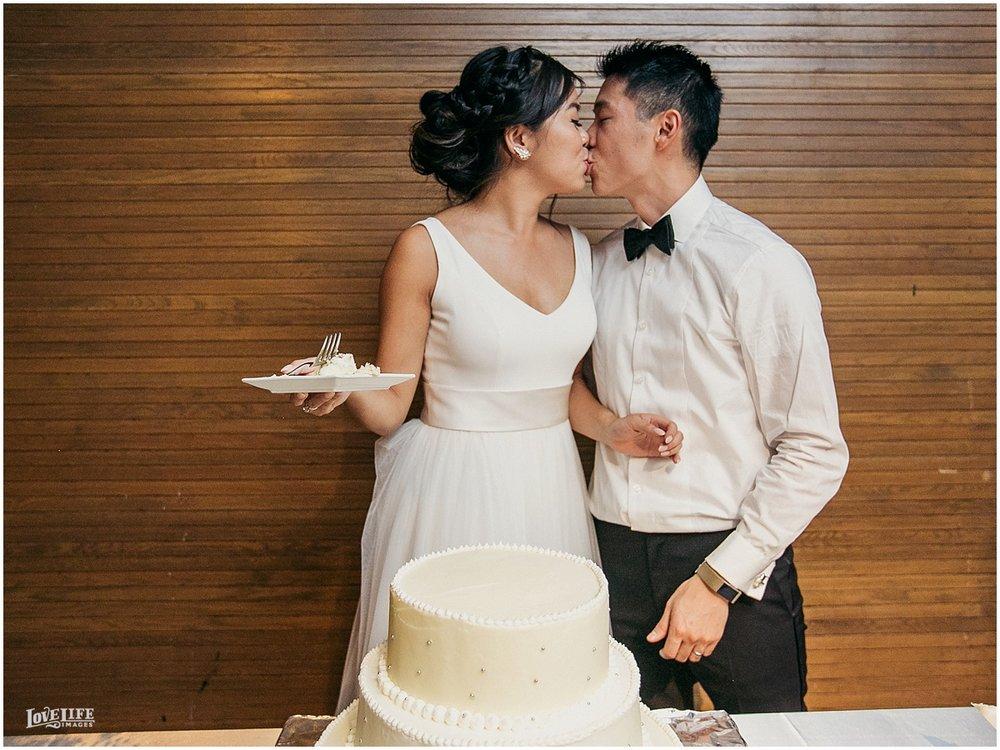 National Aquarium Baltimore Wedding cake cutting.JPG