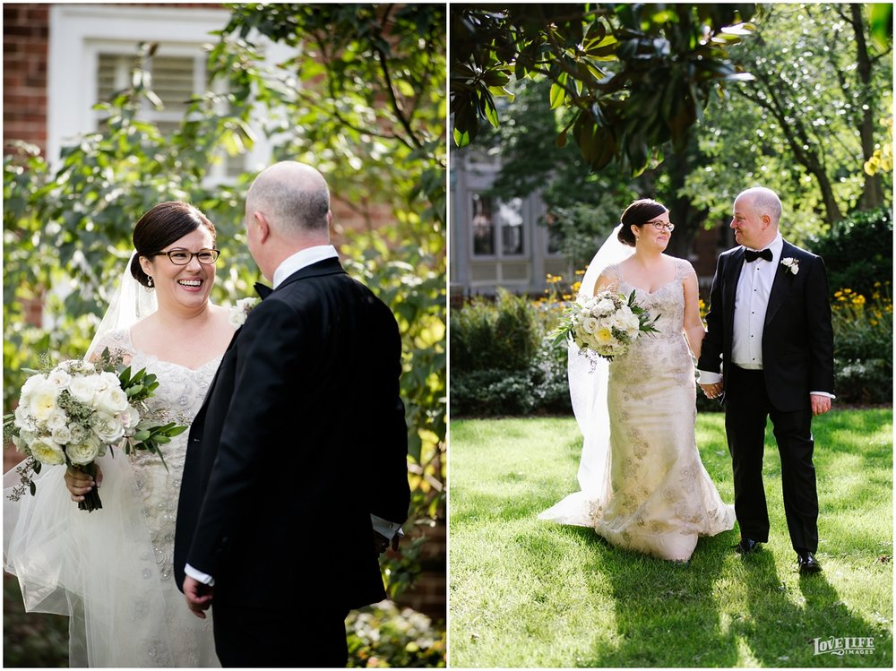 Dumbarton House wedding first look in garden.JPG
