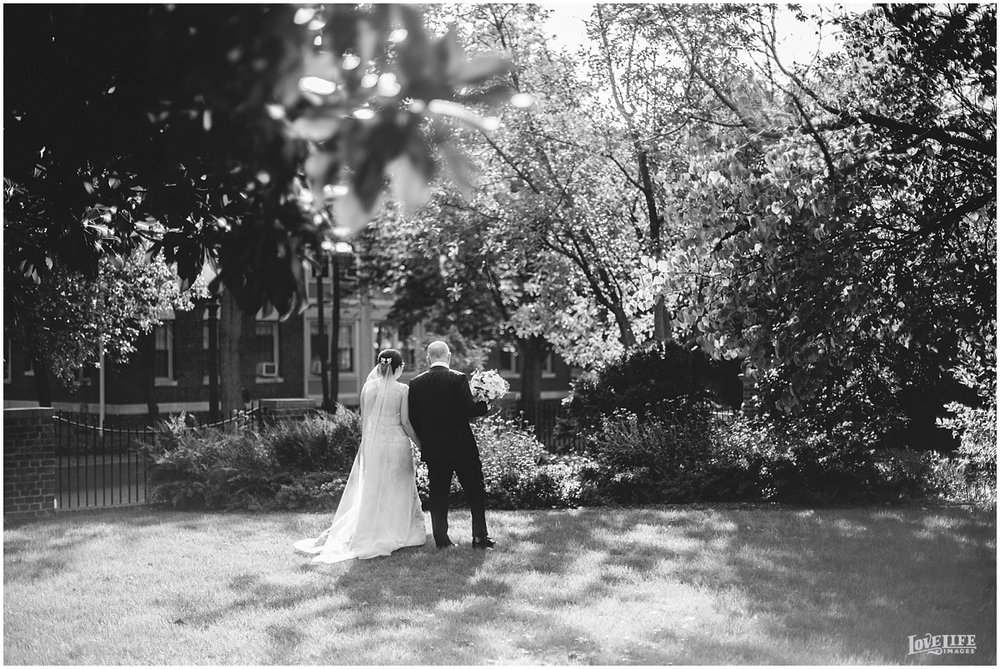 Dumbarton House wedding couple in garden.JPG