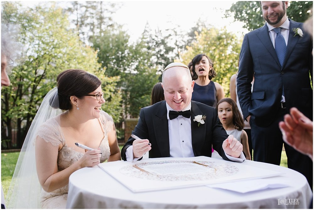 Dumbarton House wedding garden ketubah signing.JPG